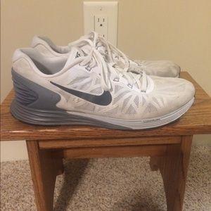 Nike Lunarglide White/Gray Size 10.5